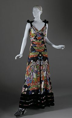Elsa Schiaparelli dress ca. 1938 via The Los Angeles County Museum of Art