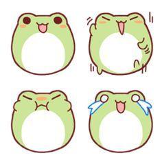 まんまるなカエルの絵文字です。トークを感情豊かに表現するお手伝いをします。 Smiley Emoji, Frog Emoji, Doodles Kawaii, Kawaii Art, Stickers Kawaii, Cute Stickers, Cute Little Drawings, Cute Drawings, Frog Wallpaper