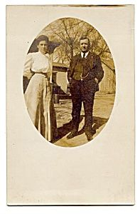 Mom and Dad -- Real Photo Postcard