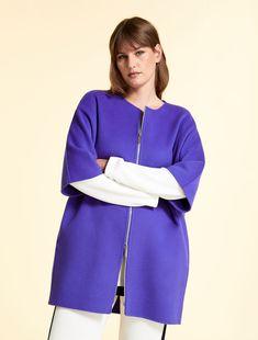 Bell Sleeves, Bell Sleeve Top, Cape, Curvy, Purple, Model, Fabric, Women's Fashion, Marina Rinaldi