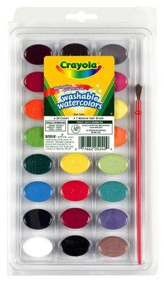 Pintura de acuarela lavable Crayola