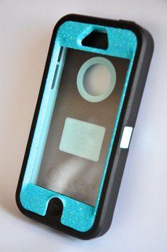 OtterBox Defender Series case iPhone 5 Glitter Cute Sparkly Bling Defender Series Custom Case Blue / Black