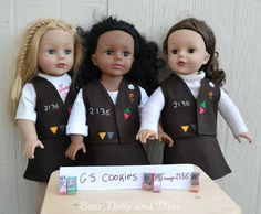 "Girl Scout uniform pattern for 18"" dolls"