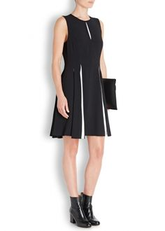 Monochrome crepe dress - All Clothing - New In - Women