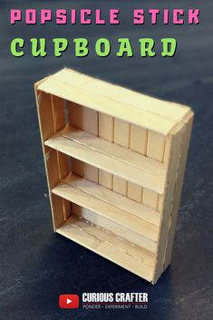 How to create a popsicle stick cupboard, perfect for a dollhouse or scaled model. This is one of many furniture pieces by Curious Crafter. Check out the video on YouTube. Hope you like it!