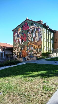 Street Wall Art, Route 66, Urban Art, Graffiti, Cabin, Mansions, House Styles, Creative, Mystery Novels
