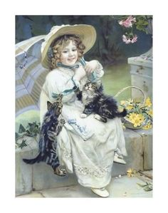 Premium Giclee Print: Playful Kittens by Arthur Elsley : 28x22in