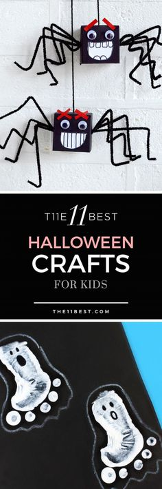 Have fun with the kids with these cute Halloween crafts!
