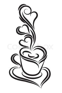 Black and white coffee cup vector | Vector | Colourbox on Colourbox