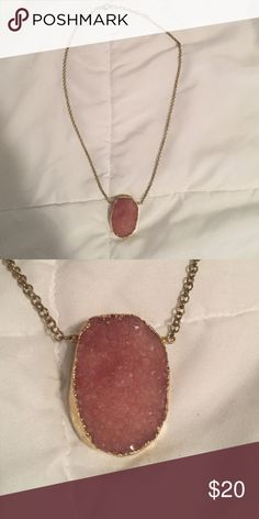 Beautiful gem stone necklace Large crystal stone necklace! Jewelry Necklaces