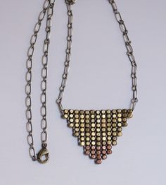 Metallic Woven Bead Necklace | Whisperwill