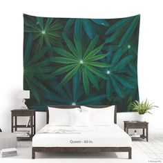 Wall hanging fabric of lupine leaves for photo backdrop or wall decoration, Plant lover gift Tapestry for home decor Dorm Tapestry, Tapestries, Hanging Fabric, Affordable Wall Art, Office Wall Art, Bohemian Decor, Home And Living, Printing On Fabric, Backdrops
