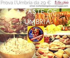 Try them all #AtasteofUmbria #FonteAngelica #NoceraUmbra #Assisi