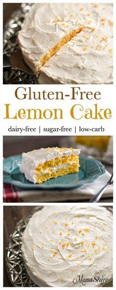 Gluten-Free Lemon Cake with Lemon Frosting