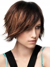 Funky Medium Layered Hair Style hmmm...