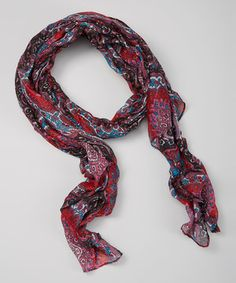 Look what I found on #zulily! Red Boho Scarf by Owl Bee Mod #zulilyfinds