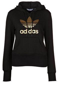 TREFOIL HOOD - Hoodie - black gold £50 Adidas Sweatpants c4359a001ca