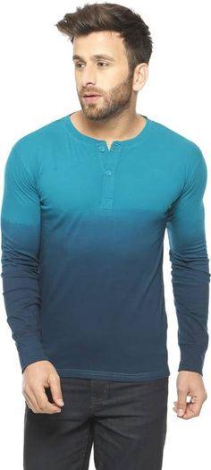 afddb287ddf Gritstones Solid Men s Henley Blue T-Shirt