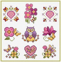 Small Cross Stitch, Cross Stitch Heart, Cute Cross Stitch, Cross Stitch Samplers, Cross Stitch Flowers, Cross Stitch Designs, Cross Stitching, Cross Stitch Patterns, Stitch Pictures