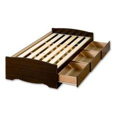 Prepac Fremont Espresso Twin XL 3-Drawer Platform Storage Bed-EBX-4105-K - The Home Depot