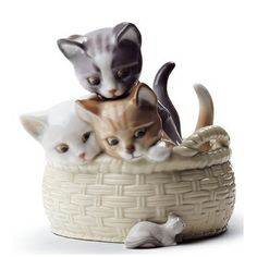 Curious Kittens - Lladro - Lladro - RoyalDesign.co.uk