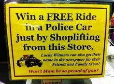 shoplifters beware!