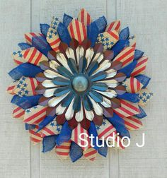 Hey, I found this really awesome Etsy listing at https://www.etsy.com/listing/468011051/patriotic-red-white-and-blue-burlap