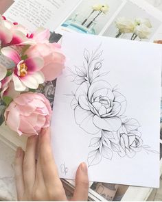 Booked✨ Browse and see examples of . # tattoos- Gebucht✨ Scroll and see examples of . Booked Browse and see examples of - # Flower Tattoo Design Watercolor Flower Tattoo Drawings, Flower Tattoo Designs, Tattoo Sketches, Flower Tattoos, Tattoo Model Female, Tattoo Models, Mini Tattoos, Body Art Tattoos, Sleeve Tattoos