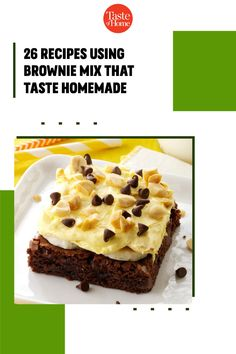 Our favorite shortcut to decadent desserts? Recipes using brownie mix. Just grab a box from the pantry and get ready to enjoy trifles, bars, cheesecake and more. Banana Brownies, Mint Brownies, Peanut Butter Brownies, Brownie Pops, Brownie Sundae, Grilled Bananas, Homemade Chocolate Frosting, Delicious Desserts, Dessert Recipes