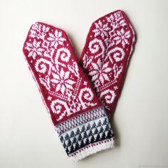 Mittens Pattern, Knit Mittens, Mitten Gloves, Fair Isle Knitting, Fingerless Gloves, Knitting Patterns, Knit Crochet, Hats, Projects