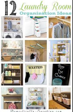 BASEMENT LAUNDRY ROOM:Unfinished Basement Laundry Room Ideas, Basement Laundry Room Before and After #LAUNDRY #BasementRoom