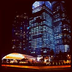A view of the Marina Financial District as you unwind the week away..