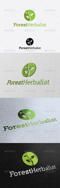 Forest Herbalist - Logo Design Template Vector #logotype Download it here: http://graphicriver.net/item/forest-herbalist-logo-template/2859139?s_rank=1053?ref=nexion