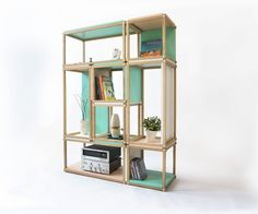 Stacks shelving furniture - multi function all stackable shelving - open bookshelf - bookcase -stool - box - room divider - side table -