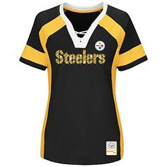 1aa6533aa Pittsburgh Steelers Majestic Womens Draft Me Lace-Up Ragl... https