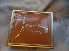 Vintage Pierced Earring Travel Compact Vanity Table Case | RosesHeirlooms - Collectibles on ArtFire