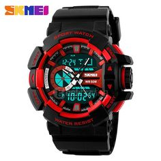 Watches Self-Conscious Men Sports Watches Skmei Brand Military Watch Casual Led Digital Watch Multifunctional Wristwatches 50m Waterproof Student Clock Latest Fashion