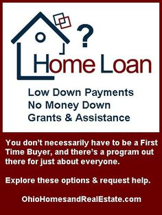 low down payments, no money down, down payment assistance