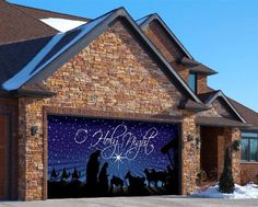 O Holy Night Garage Door