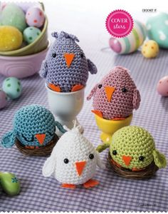 *This listing is for a PDF pattern to create your own amigurumi, not a finished doll* Custom made dolls are available on request. Easter chick by Liz Ward This pattern was organically design for Craftseller magazine finished chick size 5-15cm Pattern includes pictures and