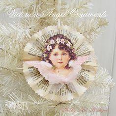 Shabby Art Boutique Victorian Angel Ornament 1