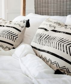 Stamped pillows