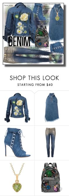 """""""All Denim, Head to Toe"""" by silviaracchi ❤ liked on Polyvore featuring Marques'Almeida, Oscar Tiye, Vivienne Westwood Anglomania, TIARA and Marc Jacobs"""