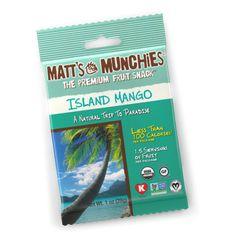 Matt's Munchies Premium Fruit Snack Island Mango, Pack of 12 x 1 oz.