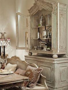Lovely French Armoire ▇ #Home #French #Decor via - Christina Khandan on IrvineHomeBlog - Irvine, California ༺ ℭƘ ༻