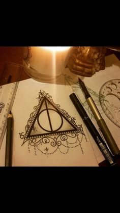 Another way to design your deathly hallows.