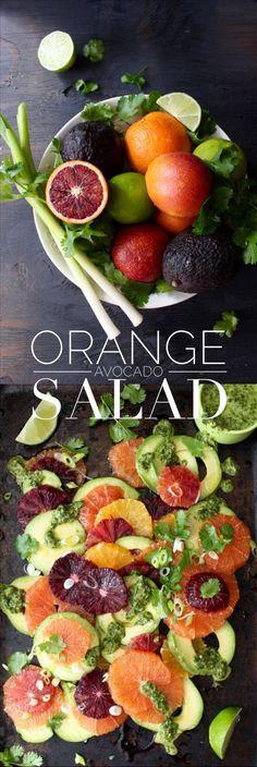 Orange Avocado Salad Recipe with Lime Dressing   CiaoFlorentina.com #CAonMyPlate #CultivateCA Learn more at Cultivate California: clvr.li/1Pj1Y7O