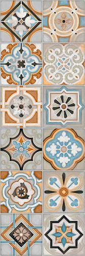 EVIA: Urso Multicolor - 25x75cm. | Revestimiento - Pasta Blanca | VIVES Azulejos y Gres S.A.
