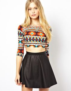 Discover the latest fashion and trends in menswear and womenswear at ASOS. Shop this season's collection of clothes, accessories, beauty and more. Latest Outfits, Latest Fashion Clothes, Fashion Outfits, Asos Online Shopping, Long Sleeve Crop Top, Women Wear, Two Piece Skirt Set, Crop Tops, Skirts