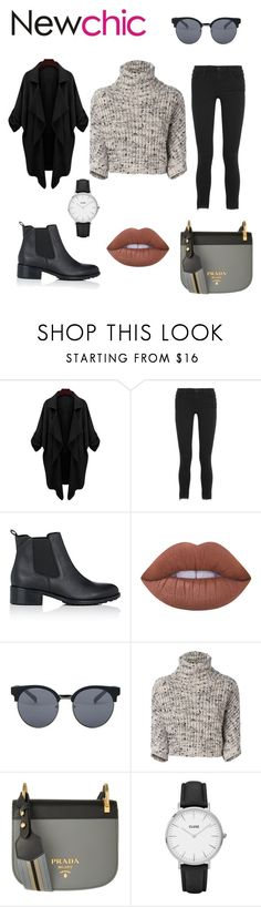 """""""#newchic"""" by stellaella29 ❤ liked on Polyvore featuring Frame Denim, Barneys New York, Lime Crime, Quay, Brunello Cucinelli, Prada and CLUSE"""
